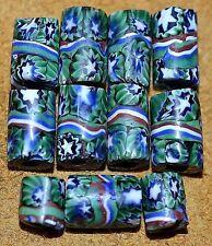Antique Venetian Millefiori Italian Murrine Star Cane Glass Beads, African Trade