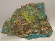 Parrot Wing Chrysocolla Malachite Unpolished Stone Slab Lapidary Cabbing Rock #4