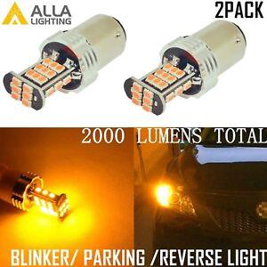 Alla Lighting 1157 30-LED Turn Signal Light Blinker Bulb Lamp,Amber Yellow,2PCS