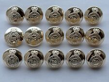 """15x Staybrite:""""ROYAL ARMY SERVICE CORPS BUTTONS"""" (19mm, No1 Tunic, Buttons Ltd)"""