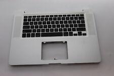 "Apple A1286 Mac Book Pro 15"" Top case/Palmrest Keyboard 2010 2011 2012 Grade B"