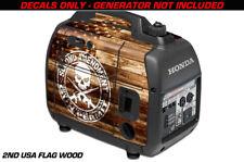 Decal Wrap For Honda EU2000i Skin Camping Generator Engine Sticker AMENDMNT WOOD