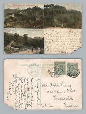 Crag Hotel & Sanatorium SINGAPORE Penang—Straits Settlement Stamps to USA 1908