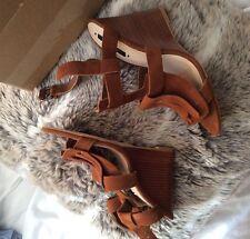 Brown Zara Wedges 6 39 New City Heels Shoes Sandals Tassel