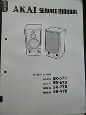 ORIGINALI service manual AKAI SPEAKER SYSTEM sr-570, 670, 770, 970