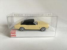 Busch 47524 Ford Mustang Cabriolet avec Toit Souple, Jaune, Modèle 1:87 (H0)