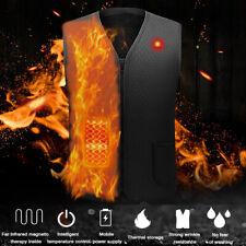 Heated Vest Winter Body Warm Electric USB Jacket Men Women Thermal Heating Coat