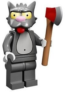 LEGO SIMPSONS Minifig Personnage Figurine Serie 1 71005 Scratchy NEUF
