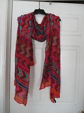 Stella & Dot Scarf tribal bold colors over-sized Beautiful!