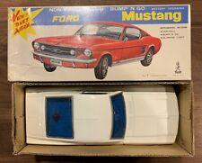 Vintage Ford Mustang White 'Non-fall Mystery Bump'N Go' Car Taiyo Japan Rare