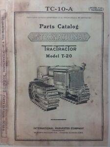 T-20 International TracTracTor Crawler Tractor Owner, Service & Parts (3 Manuals