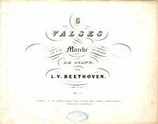LUDWIG VAN BEETHOVEN 6 Valses et une Marche Funébre pour le Piano 1840
