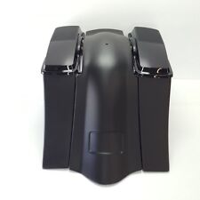 """Fiberglass Saddlebags Extended 6"""" 6x9 Abs Lids No Exhaust Harley Touring 97-08"""