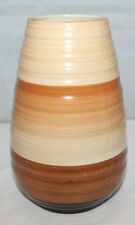 Shelley - Vintage 1930's 'Harmony' Banded Ware Brown Vase - Shape 979