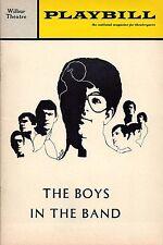 "Mart Crowley ""THE BOYS IN THE BAND"" Rex Robbins / Paul Rudd 1969 Boston Playbill"
