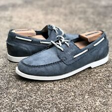 """COLE HAAN Suede Leather Boat Gray Shoes """"SZ 9.5 M"""" Mens"""