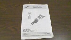 Milwaukee Sawzall 6527 6537 6528 Owners Manual