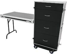 Schubladencase DS-1 Toolcase Zubehörcase mit Tisch und Blue Wheels Transportcase