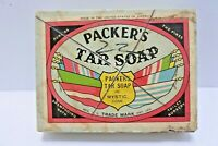 Packer's Tar Soap with  WWII Packaging Box Advertising Box Made in USA