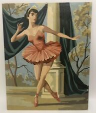 Vintage 1955 Paint By Number Curtain Call Ballerina Dancer 20 X 16 Tutu Theater