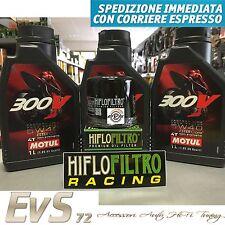 3 Litri MOTUL 300V 5w40 5w-40 Road Racing Olio Motore Moto +Filtro HiFlo Omaggio