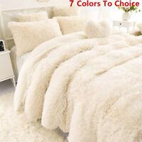 Winter Soft Shaggy Blanket Ultra Plush Quilt Warm Comfy Thicken Throw Bedding -U