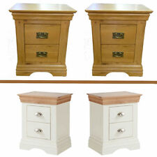 Handmade Matching Pair Bedside Tables & Cabinets