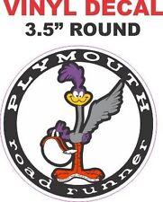 1 Plymouth Mopar Super Bird Road Runner Round Vinyl Decal - Nice and Sharp