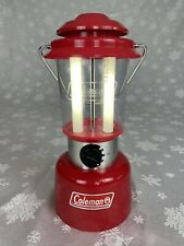 Coleman Fluorescent Lantern Twin Tube Red 5344-703 & 8 Extra Bulbs