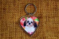 Shih Tzu Dog Gift Keyring Dog Key Ring heart Xmas Birthday Mothers Day Gift