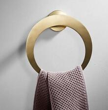 Bath Towel Ring Hand Rack Holder Wall Mount Mounted Brushed Gold Stainless Steel