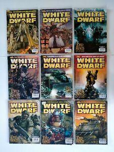 Bulk lot of 9 White Dwarf Magazines 2003/2004   Free Post