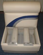 Pontoon Boat Bench Seat In white and  blue