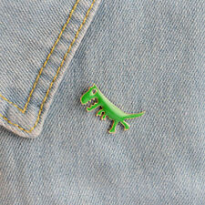 Fashion Cartoon Dinosaur Enamel Brooch Denim Jacket Collar Pin Badge Jewelry