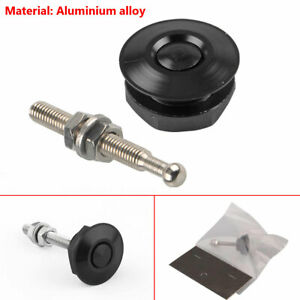 Aluminium Alloy Latch Mini Push Button Hood Pin Lock Car Quick Release Bumper