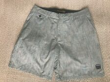 Mens Quiksilver Check Casual Dress Shorts Surf Brand Quicksilver Grey Size  34