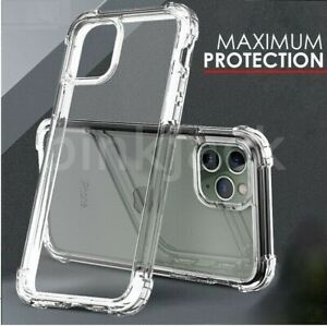 CLEAR Shockproof Case For iPhone 13 Mini 12 11 Pro Max XR X XS 8 7 6 Silicone