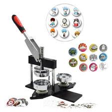 Button Badge Making Punch Press Machine Kit + Free 300PCS Round Pin Button Parts