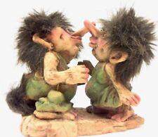 New ListingNyform Norwegian Norway Kissing Trolls Statue Smooching Couple Duo Cute