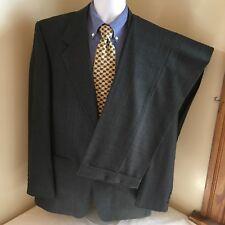 Kingsridge Mens Suit 2 Button Gray w/ Subtle Windowpane Plaid 42L 42 L 35W 32L