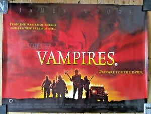 "John Carpenter VAMPIRES  Double Sided UK Quad poster 40"" x 30"" Horror Film Movie"