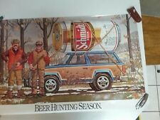 Schmit Beer Hunting Poster 37 1/2 X 34 1/2