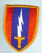 1st Signal Brigade embroidered patch full color mint condition army surplus