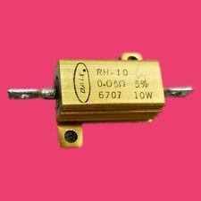 Dale (RH-10).05 Ohm 5% 10W Military Wirewound Resistor/ Housing: Aluminum Anodic
