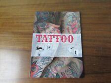 Tattoo roi crâne et oiseau bleu page de livre dictionnaire antique imprimé Poster art