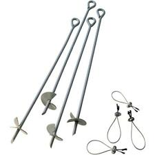 4Pcs 30inch Shed Tent Anchor Steel Screw Ground Swing Stake Outdoor Heavy Duty