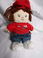 "Campbells Soup Plush Doll Tomato Boy Bean Bag 8"" Tall VGC CUTE"