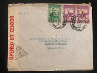 1940s Portuguese India Commercial Censored cover To Philadelphia PA USA