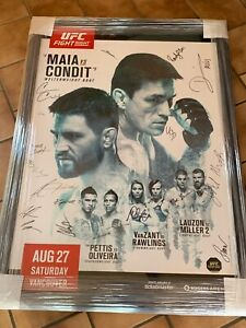 UFC On Fox 21 Autographed Signed 27x39 Poster Entire Fight Card Oliveira VanZant
