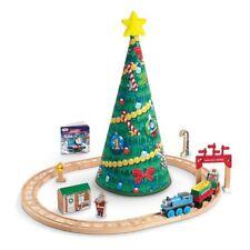 Wooden Thomas Train Christmas Wonderland Set New